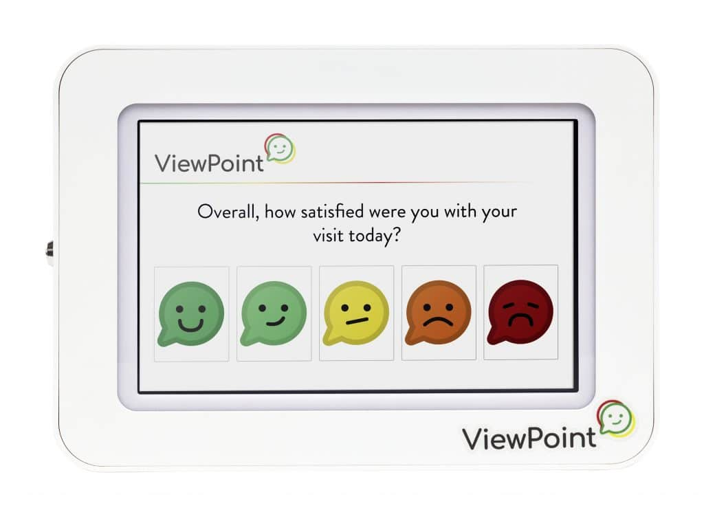 ViewPoint Pulse Wall Mount Smiley Face Feedback Kiosk