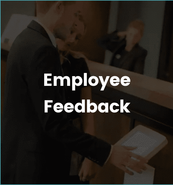 employee feedback device being used in office