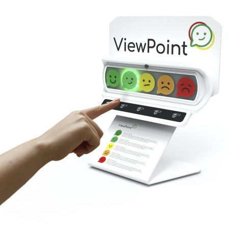 ViewPoint Wave with touchless button technology is perfect for high volume feedback